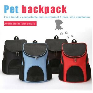 Pet Carrier Breathable Cat Puppy Zippered Carry Backpack Travel Portable Bag GER