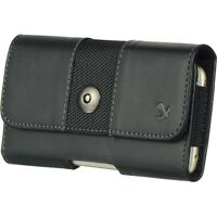 New Black Horizontal Leather Pouch Cover Holster Belt Clip Case For Mobile Phone
