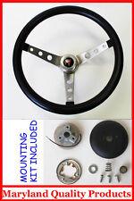 "1969-1993 Pontiac GTO Firebird Grant Steering Wheel Black 15"" Round holes"
