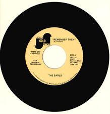 "THE EARLS Remember Then/Eyes 7"" R&B DOO-WOP VINYL JANUS GOLD RECORDS"