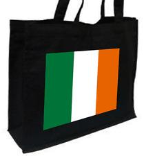 Irish Flag Cotton Shopping Bag - Choice of Colours: Black, Cream