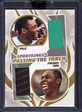 SPORT KINGS PELE FREDDY ADU PASSING THE TORCH GAME USED JERSEY GOLD VERSION /10