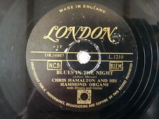 "78 rpm 10"" CHRIS HAMALTON Blues in the night / temptati"