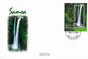 Samoa 2013 FDC Waterfall 1v Sheet Cover Fuipisia Falls Upolu Islands River