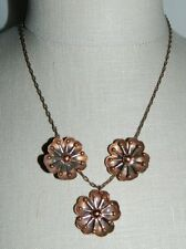 "VTG MATISSE RENOIR Signed ""LEILANI"" Design Copper Demi Parure Set"