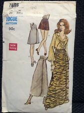 Vintage Vogue Sewing Pattern 1940s WW2 Wrap-Around Skirt Cascading W26 Size 8//10