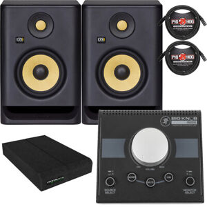 KRK RP5G4 ROKIT 5 G4 5'' Studio Monitors + Pads + Cables + Monitor Controller
