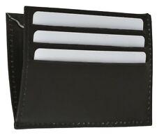 New Men's Genuine Leather Black Thin Slim ID Credit Card Money Holder Wallet