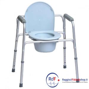 Sedia comoda per wc/doccia in alluminio, Termigea BA1