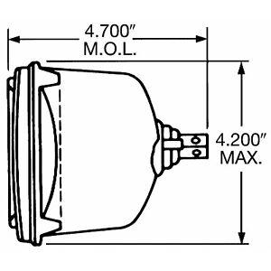 Headlight Bulb fits 1978-1989 Volvo 244,245 760 740  WAGNER LIGHTING