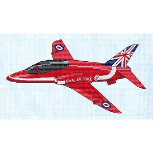 Red Arrows Hawk T1 Cross Stitch Design (kit or chart)