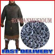 Chain mail 10 mm flat Riveted with soled ring Shirt X large Size half sleeve