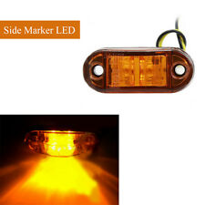 1pcs 12V/24V LED Signal Light Trailers Trucks Bus Side Marker Lamp Blubs Yellow