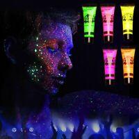 5 UV Schwarzlicht Neon Leucht Körper Farben Set fluoreszierend Premium Qualität
