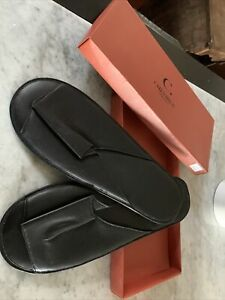 mens leather slip on slippers