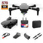 4K HD S70Pro Drone Aerial Camera WIFI FPV Foldable Mini Selfie RC Quadcopter
