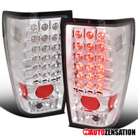 For 2004-2015 Nissan Titan Clear Lens LED Tail Lights Brake Signal Lamps Pair