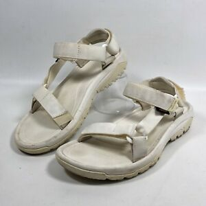 Teva Mens Hurricane XLT2 1019234 White Strap Sport Sandals Size US 9