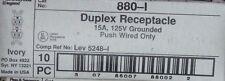 (C) P&S 880-I Duplex Receptacle 15A 125V Grounded Push Wire Only Box of 10