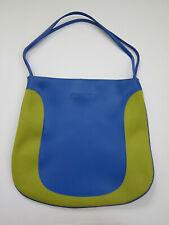 Clinique Waterproof Handbag Tote Chartreuse Green and Blue Bag