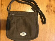 Spirit lightweight travel cross body bag, brown, lots of compartments