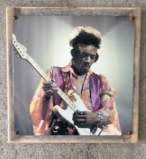 Jimi Hendrix Monterey Pop Festival Guitar Psychedelic Vintage Photo Metal Sign