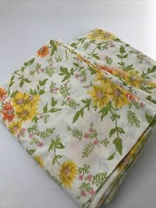 Vintage Martex 303 Floral Twin Flat And Fitted Sheet