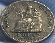 1901 Guatemala 1 Real Coin Silver ~ World Coin ~ Central America #155