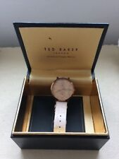 Ladies Ted Baker Watch With Pink Leather Strap