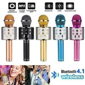 AU Wireless Bluetooth Karaoke Microphone Speaker Handheld Mic USB Player KTV Q9