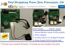 Pi-Pal board for Pi and Pi+ board (speaker, Motion Sensor,LEDs)