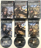 Call Of Duty Finest Hour, Big Red One, 3 PS2 Playstation 2 Game Bundle Complete