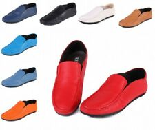 Fashion Mens Real Leather Slip On Loafers Moccasin-gommino Driving Casual Shoes