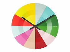 Karlsson Colourful Slices Wall Clock, 40cm, Multi-Colour, KW0042