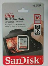 NEW SanDisk SDSDU-016G-CW46 Ultra SDHC UHS-I Card 16GB