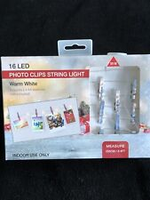 NEW LED Photo Clip String Lights 10 Clips Light Ups Christmas Tree Lights