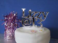 Birthday cake topper  personalised celebration decor acrylic 18th 21st 30th