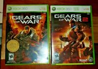 Xbox 360 Gears of War 1 & 2 2 Game Lot Complete CIB Near Mint and Tested