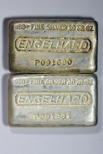 Lot of 2 Vintage Pour Waffle Back Engelhard 10 oz  Sequential Serial Numbers!!!