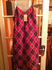 Michael Kors 2014 Tartan/Plaid Slip Dress Size 12