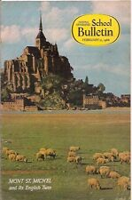 national geographic-SCHOOL BULLETIN-feb 21,1966-MONT ST.MICHEL.
