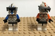 X 2 STAR WARS COMMANDERS LEGO ( CODY  AND BLUE CLONE TROOPER CAPTAIN REX).