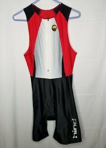 Hind Kona Triathlon Suit Racing Tri  Cycling Suit Bike Swim Run Tri Red Large