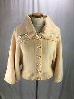Ted Baker Women's Beige Wool Cashmere Cardigan Wrap it Sweater 1 US 4