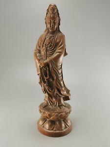GUAN YIN BUDDHA, Holz, Buddhismus Skulptur, Kwan Ying, China 22 cm C32760