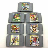 Super Mario 64/Mario Kart/Mario Party 1 2 3 Game Cards USA Version for N64