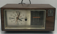 GE Radio Alarm Clock # 7-4550A with AM/FM Walnut Wood Grain - Tested/Works Fine