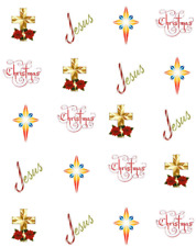 Religious Christmas Waterslide Nail Decals/Nail Art