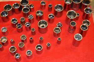 "Craftsman USA 3/8"" Drive SAE and Metric Standard 12 PT Sockets"