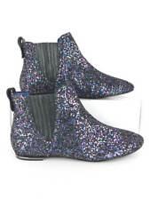 Juicy Couture Womens Black Multi Glitter Flat Boots US Size 8M (UK 7.5)